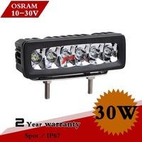 8inch 30W LED Work Light For Truck Boat Headlights 12V Offroad Fog Light LED Light External Lights Save on 55w