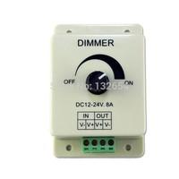 10pcs/lot 12V 96W Knob led dimmer controller for LED Light Strip Adjustable Brightness