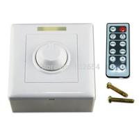 10pcs/lot IR LED Dimmer 8A 96W Brightness Controller DC 12V for LED Strip MR16 LED Bulb+IR Remote Controller