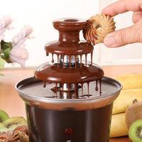 2014 New Mini Chocolate Fountain Household 3-Tier Chocolate Fondue Machine Choco Tree EU Standard Free Shipping