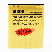 3.8V 2850mAh High Capacity Gold Battery Mobile Phone Replacement Battery For Samsung Galaxy S3 SIII i9300 i747 T999 L710 R530