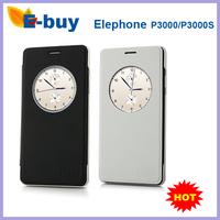 Original Elephone p3000 p3000s Protective Case S-View Flip Cover for Elephone P3000S P3000 Smartphone- Black/white