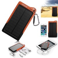 7200mAh Silicon Solar Panel Power Bank Battery Charger for iPhone 6/6 Plus 5S 5C