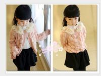 children's clothing wholesale Girls Princess collar ladies knitting coat jacket