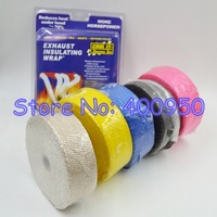 Blue/Black/Pink/Yellow/Brown L:100cm W:5cm Coolit Fiber Glass Exhaust Heat Insulating Wrap Super Thermal Bandage