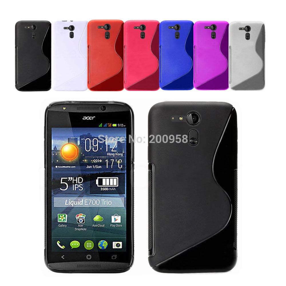 Voor acer liquid e700 kleurrijke s lijn case tpu case + screen ...