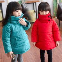 wholesale 2014 winter cotton turtleneck installed wind girls quilted thickened children cotton padded jacket cotton