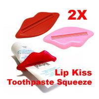 Useful Lovely 2 x Bathroom Lip Kiss Dispenser Toothpaste Squeeze #gib