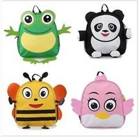 2014 wholesale children's school bags, animal cartoon cute 3D waterproof shoulder bag suitable for 1-6 years old children