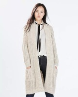 Fashion Ladies Autumn Winter Chic Slim Knitted Trench coat ,Fashionable joker contracted knitting cardigan,Free shipping
