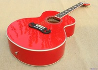 Acoustic guitar ,J185 model customised Red color with J200,with fishman EQ,high quailty