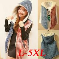 New 2014 Hot Selling Winter Coat Women Vest Women Hoodies Fur Vest Sleeveless Plus Size Cotton Vest YYJ762