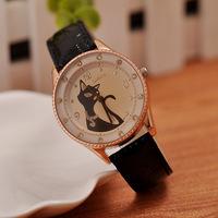 The 2014  elegant diamond watch quartz watch fashion female table Kitty watches wholesale spot