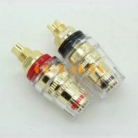 6PCS Gold Plated 5 WAY Audio Amplifier Speaker Terminal Binding Post Banana Plug Socket Connector