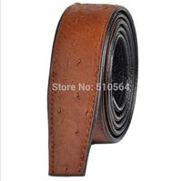 Wholesale man Brown splayed tail belt, 100%  head layer cowhide automatic buckle belt  3.5cm belt
