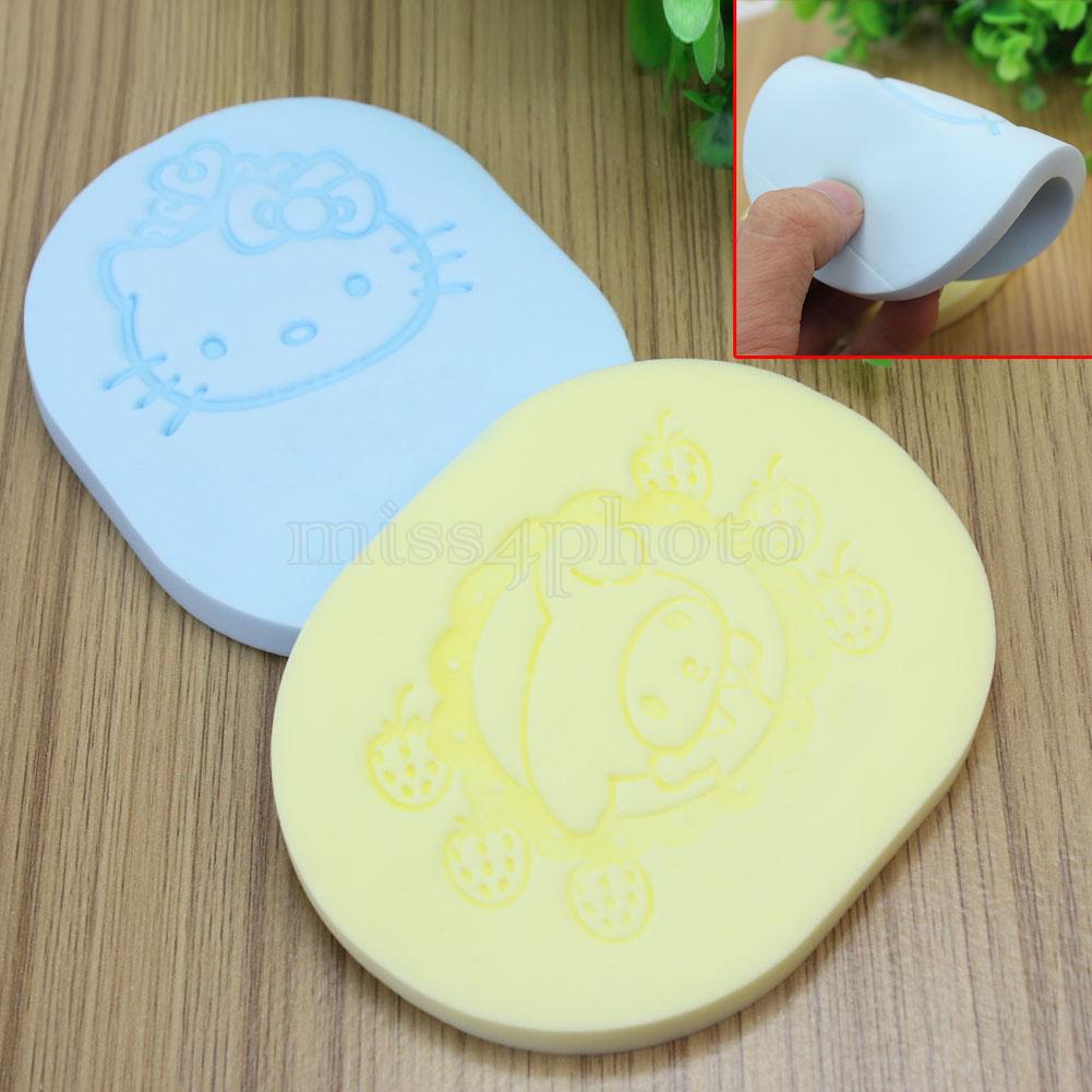2 Pcs Cartoon Pattern Face Washing Sponge Makeup Tool Cosmetic Powder Puff New(China (Mainland))