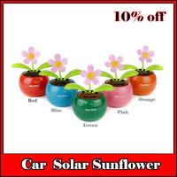 car decoration solar flip flap swing dancing sunflower