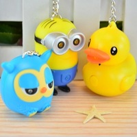New LED Cartoon Key Chain Party Favor Supplies Kids Gift Light Up Wedding Holiday Decorations TOY