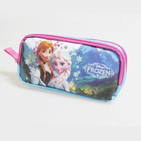 Free Shipping! new explosion Frozen School Pencil Case Fabric Double Zippers Pencil Bag&Very Good Quality Pen Case For Girl