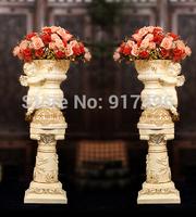 Rome flower pots of European Cupid column decoration decoration decoration living room floor Home Furnishing resin