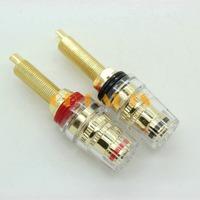 6PCS 5 WAY Gold Plated Audio Amplifier Speaker Terminal Binding Post Banana Plug Socket Connector