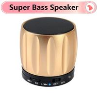 New 2014 Portable Mini Bluetooth Speakers Metal Steel Wireless Smart Hands Free Speaker With FM Radio Super Bass Speaker