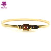 2014 New fashion gold & silver stretch metal chain belt for women Diamond Elastic Waistband Girdle  Buckle Alloy Waist Chain