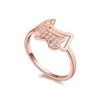 The new brand design fashion woman sell well 18K Gold Ring CZ Ring Spirit Dog  108724