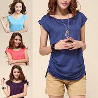 Womens Tops Fashion 2014 Summer Plus Size Women Clothing Short Sleeve Women t shirt Slim Casual Tropical Roupas Femininas XXXL