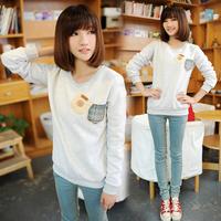 Autumn 2014 women's print long-sleeve women's autumn outerwear fleece sweatshirt autumn and winter female