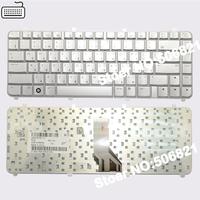 Original Russian Keyboard for HP Pavilion dv5 dv5-1000 dv5t dv5z silver RU laptop keyboard Free shipping