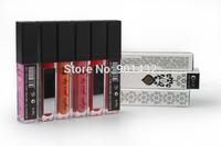 Newest LED light Minerals Lip gloss Lipsticks Lipgloss Shine Makeup Matte Colored Lip Stick gloss 6 colors Free shipping