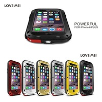 "plus 5.5"" Original Love Mei Aluminum Powerful Case For iPhone 6 plus 5.5"" Extreme Dirtproof Waterproof Metal Case for i6"