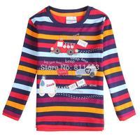 New arrival boys long sleeve leisure striped cartoon T-shirt / children T-shirt / kids coat