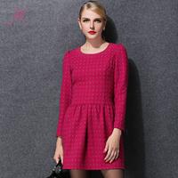 XL-5XL Plus Size Women Fashion Dress Women High Quality Autumn Winter Long Sleeve Cute Dot Dress Bottoming Dress Vestidos