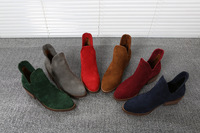 freeshipping 2014 nubuck Leather Martin boots ankle Boots For lady 6 colors vintage autumn& winter boots SIZE 35-40 DT298