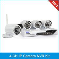 szsinocam SN-NVK-6004E 4 Chanel HD 720P P2P 1.0 Mega Pixel Wireless Cloud IP Camera NVR Kit