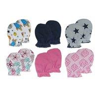 Luvable Friends 3 Pairs/lot Cotton Newborn Baby Mittens Star Printed Luva 0-6 Months Baby  Winter Gloves Kids Gloves