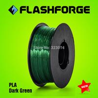 Flashforge 3D printer PLA Dark Green colour  filaments,diameter 1.75mm,for Creator series.
