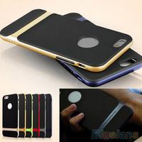 Hybrid Hard Bumper Soft Rubber Skin Case Cover for Apple iphone 6 4.7