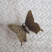 42mm Antique butterfly drawer handle knob Kitchen Cabinet cupboard door Furniture Handle Kids Children Knobs Pulls