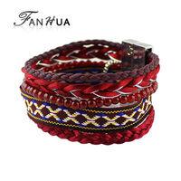 Indian Jewelry Pulseira Red Elastic Brand Bracelets Bangles New Designer Bijoux Women New Year Gift