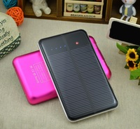 10000mah Mobile Power Bank Charger Portable Phone Universal Solar Power Polymer Battery 2USB output(Customizable LOGO)