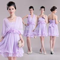 2014holidaylady romantic beautiful cape type tube top chiffon one-piece dress