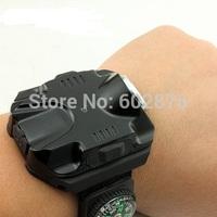 Freeshipping WristLight Variable-Output LED Flashlight with 180 Lumen LED  +  compass(Portable Wrist flashlight)