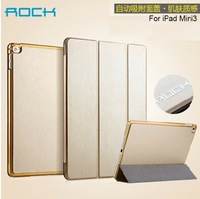 ROCK Luxury Design Intelligent Smart Case For iPad Mini 3 Super Slim Folio Folding Stand Cover, in retail box, 1pc freeship