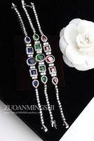 3 color diamond pcs white gold chain  lady's bracelet (gghhjjghj)