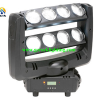 4pcs with fly case/lot led party lights 8*10 white dmx led stage moving beam lights