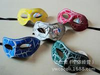 6 pcs Pack of Mardi Gras Masquerade Party Fantasy Masks weddings Men crack new