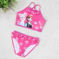 2015 Frozen Anna Children Baby Girls Bikini/Frozen Swimwear Summer Wear/Frozen Bikini Bathing Suit/Two Piece/Free Shipping